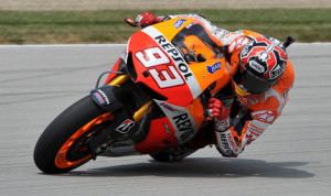 Marc Marquez grabbed the pole for Sunday's Red Bull Indianapolis Grand Prix at Indianapolis Motor Speedway. (Dave Heithaus Photo)