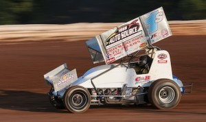 Logan Schuchart en route to victory Friday night at Pennsylvania's Williams Grove Speedway. (Dennis Bicksler photo)