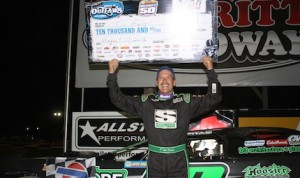 Tim Fuller won last Saturday's World of Outlaws Late Model Series race at Merritt Speedway. (Kevin Kovac/WoO LMS photo)