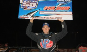Jeep VanWormer won Friday night's World of Outlaws Late Model Series race at Michigan's Winston Speedway. (Kevin Kovac/WoO LMS photo)