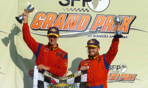 John Edwards and Matt Bell claimed the Grand Sport class victory during Saturday's Continental Tire Sports Car Challenge event at Kansas Speedway. (Don Figler Photo)