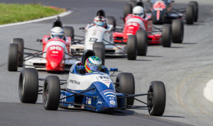Jake Eidson (10) drove to victory in the season finale for the F1600 Formula F Championship Series on Sunday at Summit Point (W.Va.) Motorsports Park. (Valet Photo)