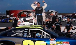 Greg Pursley won Saturday's NASCAR K&N Pro Series West race at Spokane County Raceway. (NASCAR photo)