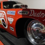The Mongoose's dragster on display at the Barrett-Jackson Auction in Reno Tahoe. (Ralph Sheheen Photo)