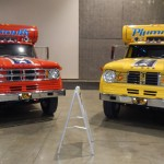 The matching Snake and Mongoose haulers on display during the Barrett-Jackson Auction in Reno Tahoe. (Ralph Sheheen Photo)