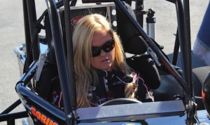 Jessica Zemken during a recent supermodified test.