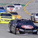 Will Kimmel (22) leads a pack of cars during Saturday's ARCA Racing Series event at Kentucky Speedway. (HHP/Gregg Ellman Photo)