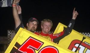 Jack Dover swept the Fall Brawl at I-80 Speedway in Nebraska. (Doug Johnson photo)