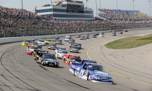 Iowa Speedway , located 30 miles east of Des Moines in Newton, features a seven-eighths-mile asphalt paved tri-oval designed by NASCAR Hall of Famer Rusty Wallace.(NASCAR Photo)
