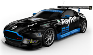 The new Aston Martin V12 Vantage GT3 that will race this weekend in California.
