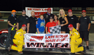 Brian Richardson won Saturday's late-model feature at Kern County Raceway Park.