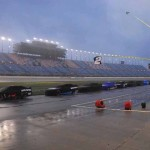 Rain delayed Sunday's NASCAR Sprint Cup Series race at Chicagoland Speedway more than five hours. (Bruce Nuttleman Photo)