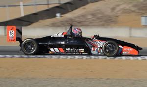 Alexandre Baron, making his USF2000 debut, scored the victory Saturday at Mazda Raceway Laguna Seca. (USF2000 Photo)