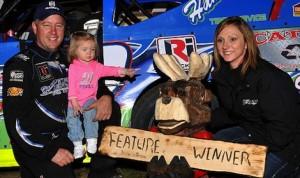 Jason Hughes won the Fall Jamboree Saturday night at Minnesota's Deer Creek Speedway. (USMTS photo)