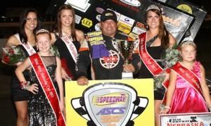 Danny Lasoski won the Nebraska Cup Sunday night at Eagle Raceway. (NCRA photo)