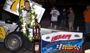 Jon McKennedy won Saturday's Star Classic at Star Speedway in New Hampshire. (Jim Feeney Photo)