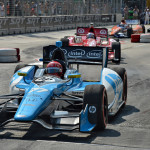 Simon Pagenaud (77) leads the pack during Sunday's IZOD IndyCar Series Grand Prix of Baltimore. (IndyCar Photo)