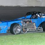 Otto Sitterly won Saturday's supermodified feature at Oswego (N.Y.) Speedway. (John Dadalt photo)
