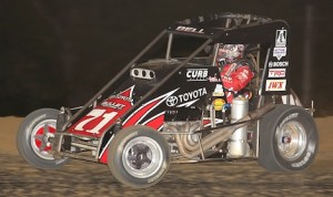 Christopher Bell won Saturday's POWRi Midget Series feature at Spoon River Speedway. (Jeff Arns photo)