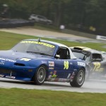 Elivan Gulart (72) had to hold off Marc Hoover to win Friday's STU race at Road America. (Shawn Mueller photo)