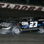 John Blankenship on his way to victory in Saturday's World 100 at Eldora Speedway. (Mike Ruefer Photo)