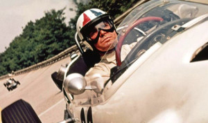 "James Garner in the film ""Grand Prix."""