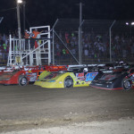 The Lucas Oil Late Model Dirt Series field prepares to go racing Friday at Attica (Ohio) Raceway Park. (Action Photo)