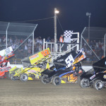 The UNOH All Star Circuit of Champions field prepares to go racing Saturday at Attica (Ohio) Raceway Park. (Action Photo)