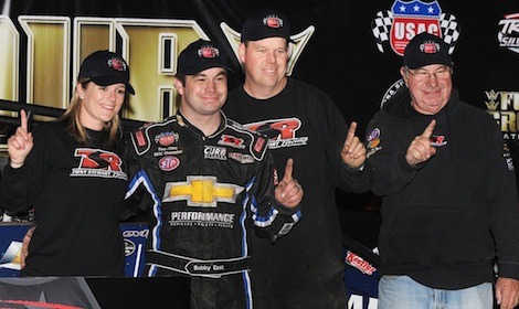 Bobby East and Tony Stewart Racing clinched the TRAXXAS USAC Silver Crown championship Saturday night at Eldora Speedway. (Frank Smith photo)