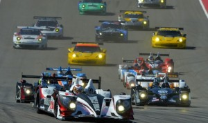The Muscle Milk machine of Klaus Graf and Lucas Luhr leads Saturday's American Le Mans Series field at the Circuit of The Americas. (ALMS photo)