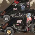 Chris Windom and Darren Hagen drove identical midgets during the 4-Crown Nationals at Eldora Speedway. (Frank Smith photo)