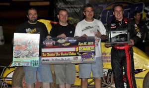 MIke Spencer won Saturday's USAC Southwest vs USAC West Coast feature at Canyon Speedway Park. (Terry Shaw Photo)