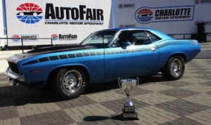 This 1970 Plymouth AAR Barracuda won Best of Show at the Charlotte Motor Speedway AutoFair. (CMS/Jonathan Coleman photo)