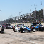 The IZOD IndyCar Series field during Sunday's Grand Prix of Houston at Reliant Park. (IndyCar Photo)