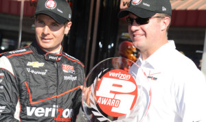 Will Power earned the pole for the season ending IZOD IndyCar Series finale at Auto Club Speedway. (Al Steinberg Photo)
