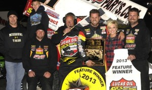 Brian Brown raced from eighth to win the 40th annual Devil's Bowl Winter Nationals on Saturday, October 19 against the Lucas Oil ASCS presented by MAVTV American Real. (ASCS / Rob Kocak)