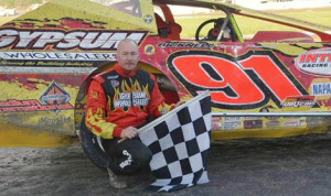 Billy Decker scored his second Super DIRTcar Series victory of 2013 Sunday at Brockville Ontario Speedway. (Brockville Ontario Speedway Photo)