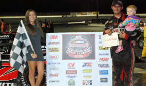 Tim Smith locked up the Kern County Raceway Park late-model track championship on Saturday.