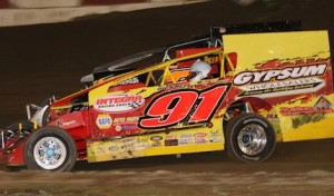 Billy Decker won Friday's King of the Can modified feature. (Dave Dalesandro photo)