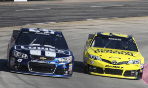 Jimmie Johnson (48) and Matt Kenseth (20) are deadlocked atop the NASCAR Sprint Cup Series standings. (HHP/Christa L. Thomas Photo)