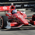Scott Dixon on his way to victory in Saturday's IZOD IndyCar Series Grand Prix of Houston. (IndyCar Photo)