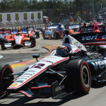 Will Power leads the IZOD IndyCar Series field during Sunday's race in Houston, Texas. (IndyCar Photo)
