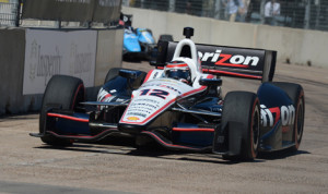 Will Power's victory Sunday in Houston was overshadowed by a vicious crash involving Dario Franchitti on the final lap. (IndyCar Photo)