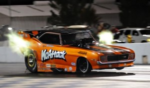 The 2014 Nitro Jam Drag Racing Series will be home to the fastest and most exciting nostalgia Nitro Funny Cars in the world as racers battle for bragging rights and a $100,000 championship. (IHRA photo)