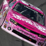 Austin Dillon drove this pink No. 3 AdvoCare Chevrolet at Kansas Speedway in NASCAR Nationwide Series competition. (HHP/Brian Lawdermilk Photo)