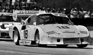 The original Porsche 935 JLP HD1 in the Green Park Chicane at Sebring Int'l Raceway in 1982. (Photo: Bob Harmeyer)