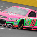 Danica Patrick's GoDaddy Chevrolet is sporting this pink look throughout the month of October. (Adam Fenwick Photo)