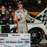 Ronnie Bassett Jr. picked up the victory in the UARA-STARS Late Model Series finale Saturday at Anderson (S.C.) Motor Speedway. (Drew Hierwarter Photo)