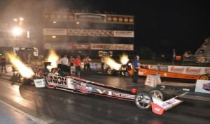 Clay Millican returned to IHRA competition with a Top Fuel victory Friday at Memphis Int'l Raceway. (IHRA photo)