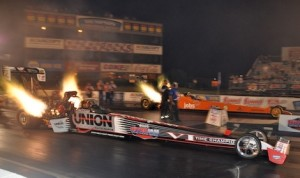 Clay Millican earned his second consecutive IHRA Top Fuel victory Saturday at Memphis Int'l Raceway. (IHRA photo)